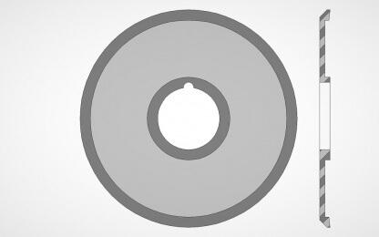Kruhový nůž - nůžkový typ